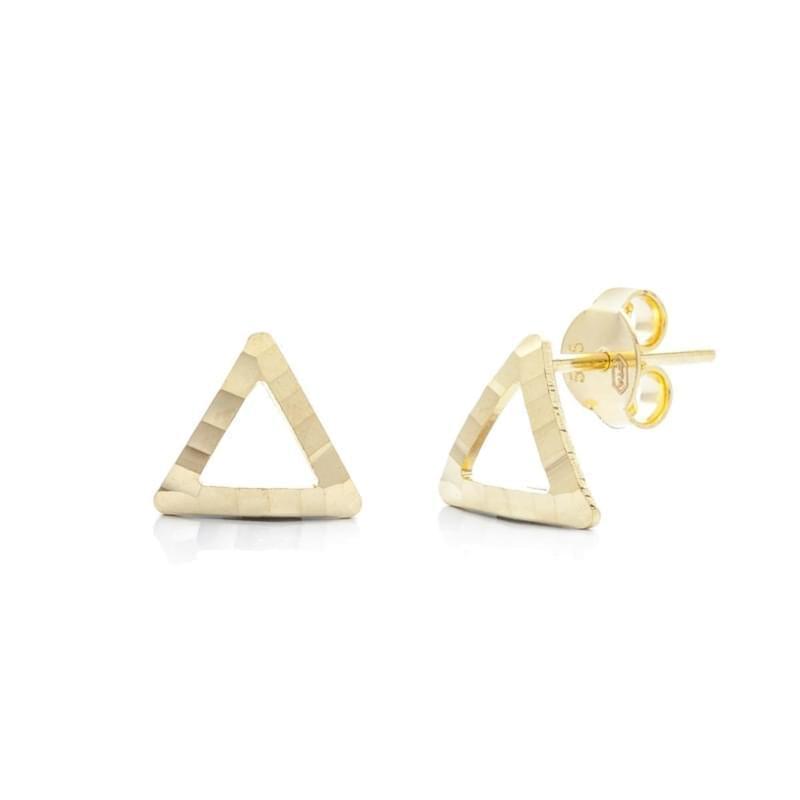 eb1c0143f Zlaté náušnice trojuholníky - Silvertime