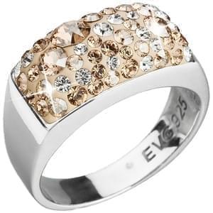 Strieborná prsteň s kryštálmi Swarovski elements zlatý 35014.5 gold 2d6430456fd