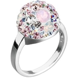 2436cc363 Strieborná prsteň s kryštálmi Swarovski elements ružová hrče 35013.3 magic  rose, Swarovski elements