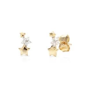 8af7accdf Zlaté náušnice hviezdičky s kamienky, Starlit