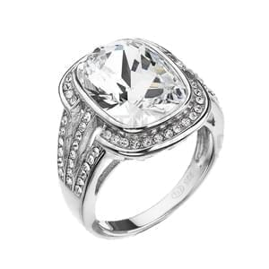 536a24fcd Strieborná prsteň Swarovski elements 35049.1 krystal, Swarovski elements